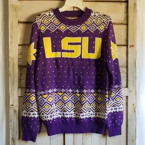 LSU Campus Specialities Purple Yellow Ski Sweater